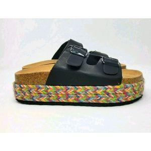 NATURE BREEZE Platform Sandals
